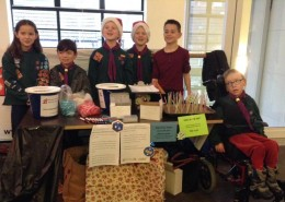 Local Cub Scout Pack ran a fundraising stall at our Christmas Market